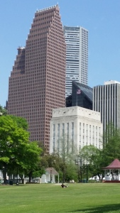 The Sam Houston Heritage Park in Downtown Houston, TX.