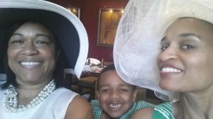 My beautiful sister, Ardis, my son, Solomon, and myself. We were enjoying her Easter surprise birthday brunch at the Four Seasons Hotel, Houston, TX.