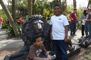 The boys having a great time at the Audubon Zoo in New Orleans, La.